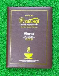 Bìa menu đẹp