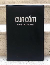 Bìa menu da lá kiếng