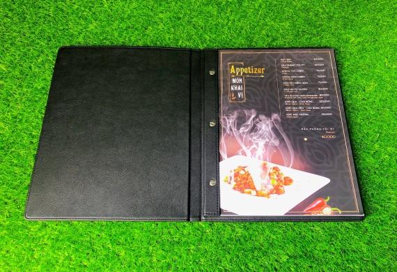 Địa chỉ sản xuất bìa menu da chất lượng